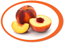 dehydrated peaches and peach powder
