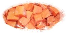 iqf frozen papayas