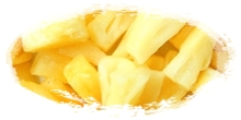 iqf frozen pineapples